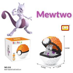 Nintendo Pokemon Mewtwo Pokeball 442pcs Nano Blocks