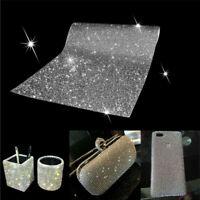 Crystal Diamond Rhinestone Sticker Sheet Diamante Self Adhesive Decal Sliver DIY
