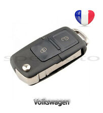 plip coque clé Volkswagen 2 btons Vw Polo Golf Beetle Jetta Passat Bora + lame