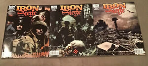 Iron Siege #1 2 3 (2010) IDW Bradstreet Covers