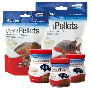 Aqueon Cichlid Pellets Resealable Pouch Medium  (Free Shipping in USA)