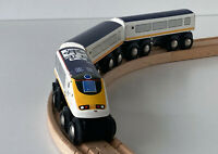 Genuine BRIO Eurostar Train 33424 and two coaches
