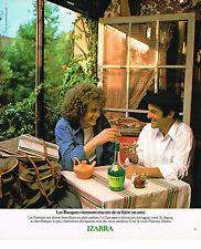PUBLICITE ADVERTISING 045 1978  IZARRA   liqueur Basque