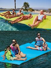 Huge 7 Person Floating Oasis Foam Raft Lake Sea Water Pad Mat 15' x 6' 1,500 lbs