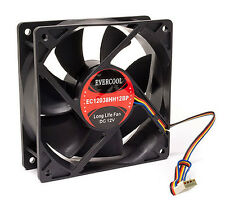Evercool 120mm x 38mm Dual Ball Bearing 4 Pin Silent PWM Fan EC12038HH12BP