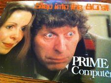 Dr Who Postcard TOM BAKER & Lalla Ward Australian PRIME COMPUTER promo Ad RARE