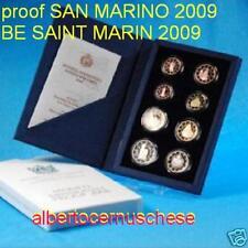 2009 8 monete EURO PROOF San Marino BE San Saint Marin