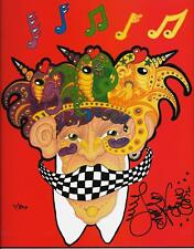 FISH HEAD Jamie Hayes NEW ORLEANS MUSIC Art Print SIGNED LITHOGRAPH
