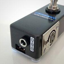 COMPACT XLR PERMANENT MUTE/KILL FOOT SWITCH PEDAL W/ USB CHARGING PORT. POPLESS