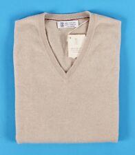 $895 NWT - BRUNELLO CUCINELLI 100% CASHMERE Sweater VEST - Beige - XL 2XL