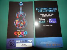 DISNEY PIXAR COCO REGAL REAL D 3D COLLECTIBLE MOVIE TICKET LIMITED EDITION NEW