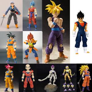 Dragon Ball Z Super Saiyan God Goku Vegetto Vegeta Trunks Frieza Action Figure N