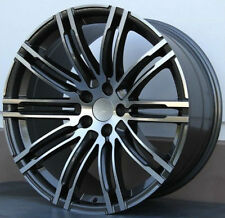 SET(4) 22X9.5 5X130 GUNMETAL MACHINE WHEELS FIT PORSCHE CAYENNE TURBO TOUAREG