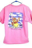 Happy Fisherman Lake of the Ozarks Men's Medium Pink T-Shirt
