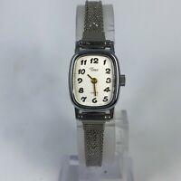 Timex T62 Womens Vintage BA Cell Metal Bezel Bracelet Quartz Analog Watch