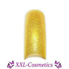 70 French Tips Gold Glitter im Tipbox #131