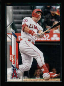 MIKE TROUT 2020 TOPPS SERIES ONE #1 REVERSE NEGATIVE SHORTPRINT SSP FC3628