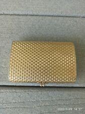 EXCELLENT ART DECO NAPIER GOLD CIGARETTE CARD CASE