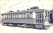 Metropolitan Transit Boston #654 Car Sheds RPPC Real Photo Postcard