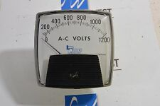 Used Line Power Manufacturing AC Volt meter 100-1200   FS=150VAC