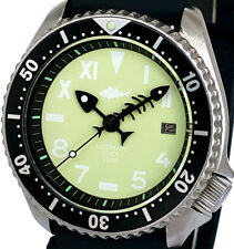 "Vintage Mens Watch SEIKO Diver 7002 Mod *GLOW-IN-THE-DARK ""California"" TUNA Dial"