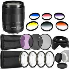 Canon EF-S 18-135mm f/3.5-5.6 IS USM Lens and Ultimate Bundle for 70D 80D 77D 7D