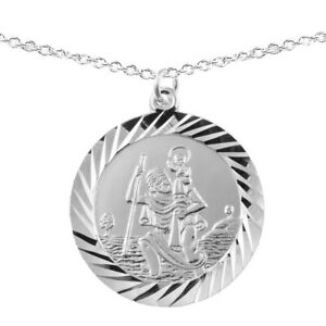 New Childrens Silver Land Sea Air St Christopher Pendant Necklace Kids Jewellery