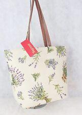 Lavender Flower design Large Sized Tapestry Hand Bag - Shoulder Bag Signare