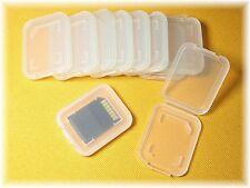 8 ASTUCCIO BOX CARD case per schede di memoria Memory SD SDHC MMC HC Bianco chiaro