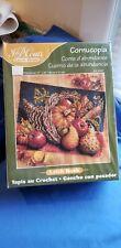 "New listing J&P Coats Cornucopia Latch Hook Kit 25057 27""×20"" Vintage Nib Fall Thanksgiving"