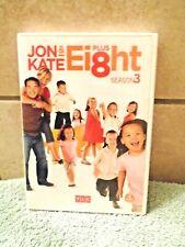 Jon and Kate Plus Ei8ht: Season 3 (DVD, 4 Disk Set) FREE SHIPPING
