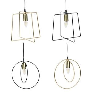 40W Hanging Ceiling Mounted Metal Lamp Light Cable Living Room Bedroom Hallway