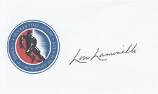 Lou Lamoriello NHL Hall of Fame Toronto Maple Leafs HOF SIGNED 3x5 CARD AUTO