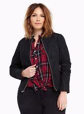 Torrid Coated Faux Leather Biker Jacket Black Size:  1 14 16 1X  #97633