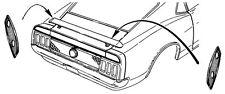 1969 1970 1971 1972 1973 Cougar Mustang Rear Spoiler Gasket Pair Best on Market