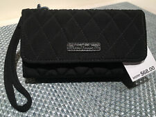 NWT Vera Bradley Smartphone Wristlet Wallet iPhone 6 Black Quilted