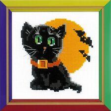 RIOLIS  HB175  Chat noir  Kit  Broderie  Point de croix  Compté