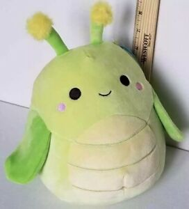 "Squishmallow 8"" Pilar Grasshopper Soft Green Plush Kellytoys Rare"