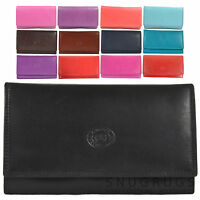 LADIES SOFT NAPPA LEATHER PURSE FLAP OVER STYLE