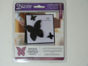 NEW* Dei'sire by Crafter Companion Graceful Butterflies 3 Metal Dies Mixed Media