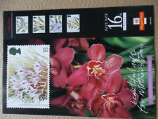 ROYAL MAIL A4 POST OFFICE POSTER 1993 ORCHIDS FLOWERS