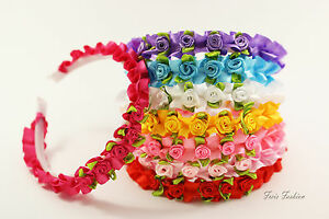 Haarreif Haarreifen Haarschmuck Kopfschmuck Blume Blüte Rose Kinder Mädchen K207