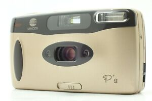 [Exc+5] Minolta P's Gold Point & Shoot 35mm Panorama Film Camera from JAPAN