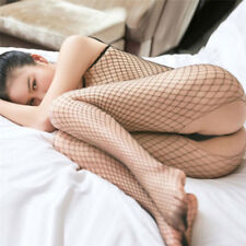 Lingerie Women Underwear Transparent Mesh Sling Fishnet Stockings.Nightwear XR