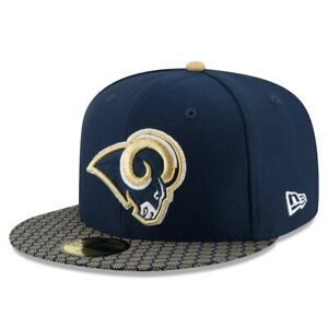 Los Angeles LA Rams St. Louis Hat New Era 59Fifty Blue NFL Fitted Size 7-1/4 New