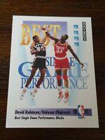 1991-92 SkyBox David Robinson Hakeem Olajuwon #311 Spurs Rockets Pack Fresh