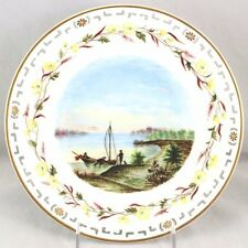 RARE 1874 MINTON CHINA ENGLAND HAND PAINTED RETICULATED PORTRAIT CABINET PLATE
