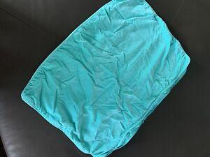 PB Teen Pool Aquamarine Turquoise Velvet Zippered Pillow Sham Pottery Barn