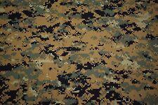 """Woodlands Marpat USMC T-Shirt Knit 2-Way Stretch Camo Fabric 60""""W Camouflage"""