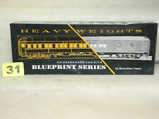 BRANCHLINE BLUEPRINT #2103 NEW YORK CENTRAL HO SCALE HEAVYWEIGHT PASSENGER CAR